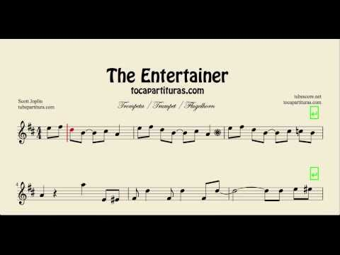 The Entertainer Easy Sheet Music for Trumpet and Flugelhorn