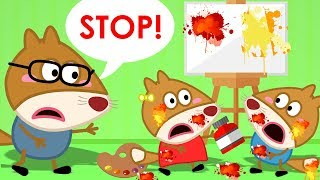 Fox Family And Friends Cartoons For Kids | Baby Fox Painting