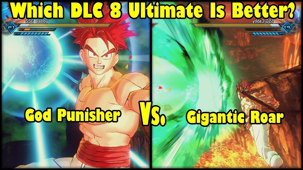 Xenoverse 2 DLC 8 Skill Test! God Punisher Vs Gigantic Roar! Which DLC 8  Ultimate Is The Best?