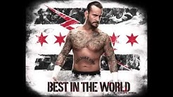 "WWE CM Punk 2nd Theme song: ""Cult of Personality"" HQ"