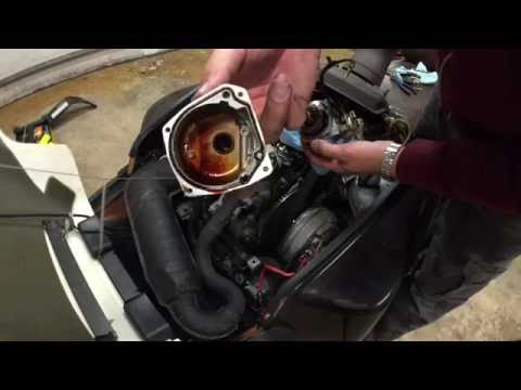 Clean a Carburetor on a Yamaha Inviter CF300 Snowmobile Step By Step Instructions