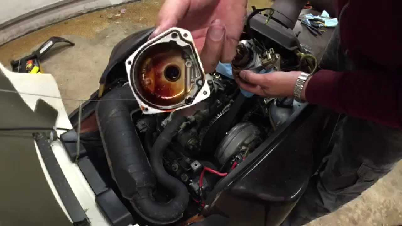 Clean a Carburetor on a Yamaha Inviter CF300 Snowmobile ...