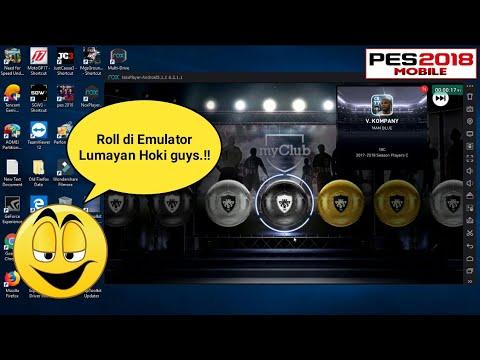 Roll Di Emulator (PC) Lumayan Hoki.!! • Pes 2018 Mobile