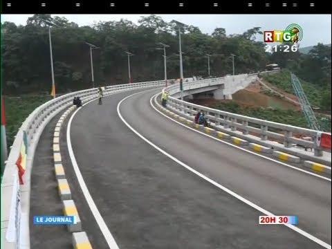 www.guineesud.com - RTG du 15 juin 2017 : Inauguration du pont Kaaka à Coyah