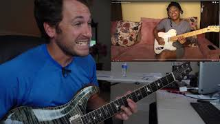 Guitar Teacher REACTS: HELEN IBE Lean On Me Bill Withers Guitar Cover