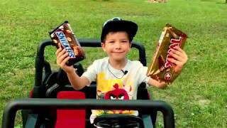Fun for kids, kids enjoying car riding