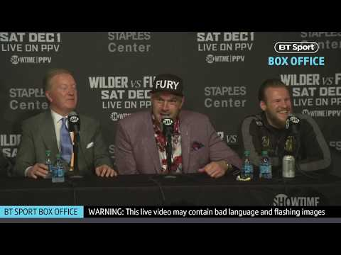 Full Tyson Fury post-fight press conference | Deontay Wilder v Tyson Fury