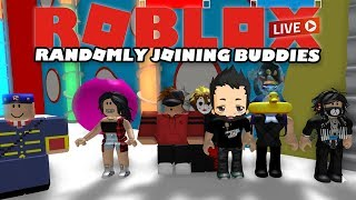 Randomly joining friends in games they are playing... | ROBLOX Live Stream