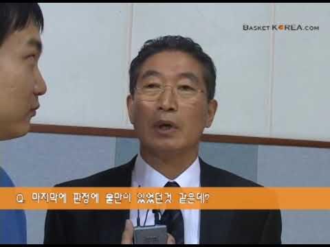 2차연맹전 11월6일 한양대 최명룡 감독