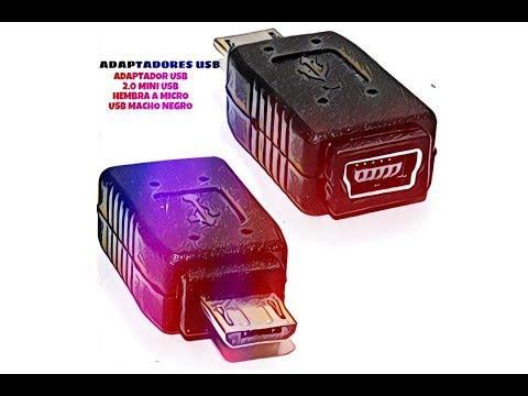 Video de Adaptador USB 2.0 mini USB hembra a micro USB macho  Negro