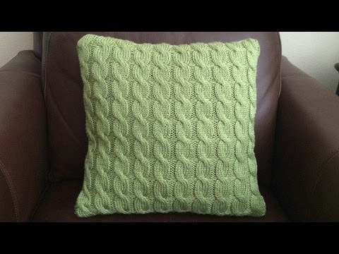 How To Knit  A Cable Pillow, Lilu's Handmade Corner Video # 65