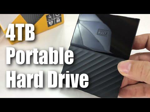 WD 4TB Black My Passport USB 3.0 Portable External Hard Drive Unboxing