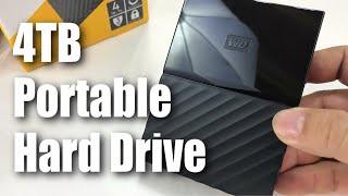 WD 4TB Black My Passport USB 3.0 Portable External Hard Drive Unboxing
