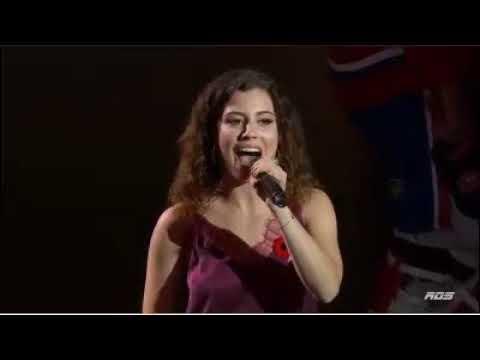 Sara Diamond Sings National Anthems - Montreal Canadiens vs Minnesota Wild