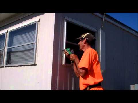 Window replacement in a mobile home Leaks How to Repair YouTube