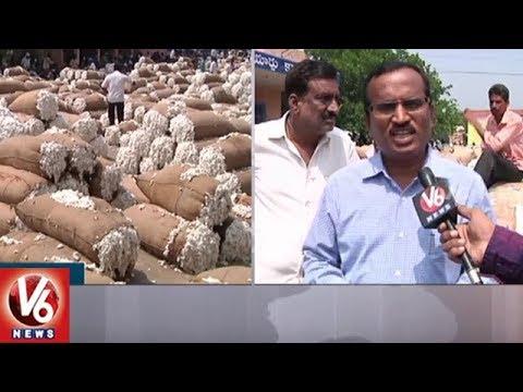 Warangal Enumamula Market Secretary Srinivas Face To Face | Cotton Purchase | V6 News