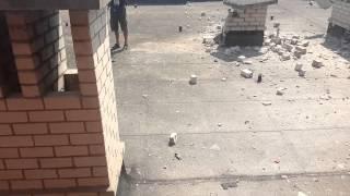 07.08.14 (г.Донецк, ДНР) Улица Розы Люксембург (д. 78-82) после артобстрела украинской армией (ч.5)