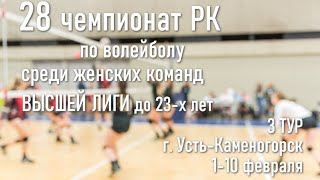 Куаныш 2 Иртыш Казхром 2 Волейбол Высшая лига Женщины до 23х лет 3 тур