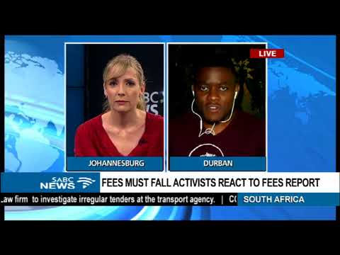 Fees Must Fall activist in KZN reacts to Fees Commission report