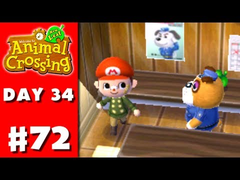 Animal Crossing: New Leaf - Part 72 - Police Station (Nintendo 3DS Gameplay Walkthrough Day 34)