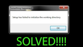 SOLVED - Setup has failed to initialize the working directory error during Windows 10 upgrade