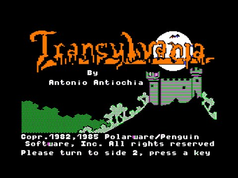 Transylvania walkthrough (Apple II - Polarware)