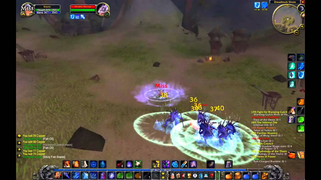 Frost Mage AOE Grinding - Vanilla WOW Nostalrius