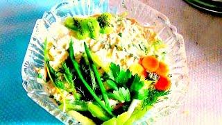 Салат из пекинской капусты с курятиной - легко и просто.