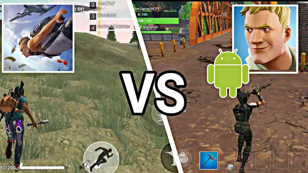 La Comparativa Que Todos Esperaban Free Fire Vs Fortnite Android Youtube