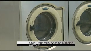 Child trapped in washing machine