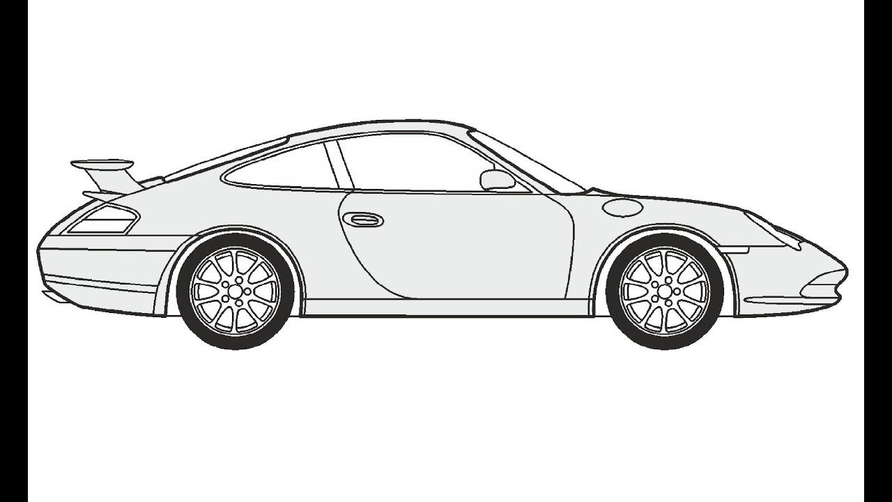 How To Draw A Porsche 911 Gt3 Porsche 911