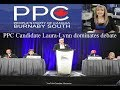 PPC Candidate Laura-Lynn dominates debate