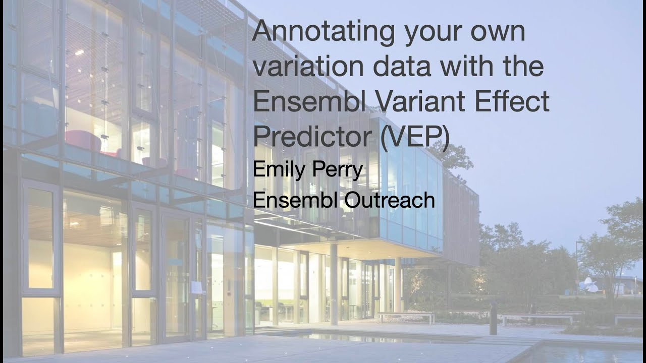Download Annotating your own variation data with the Ensembl Variant Effect Predictor VEP