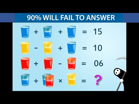 VIRAL GLASS MATH PUZZLE || 90% Students Fail To Answer This Question