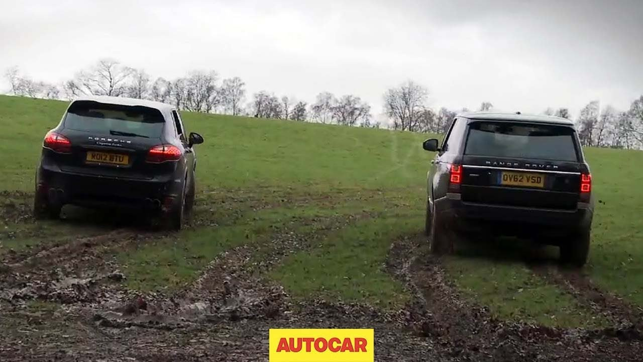 Range Rover V Porsche Cayenne Drag Racing Off Road