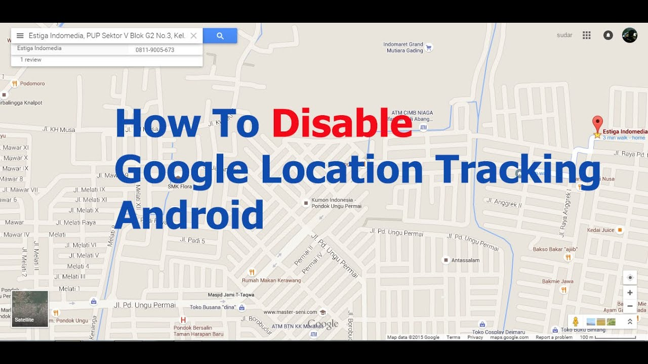 how to delete location in android