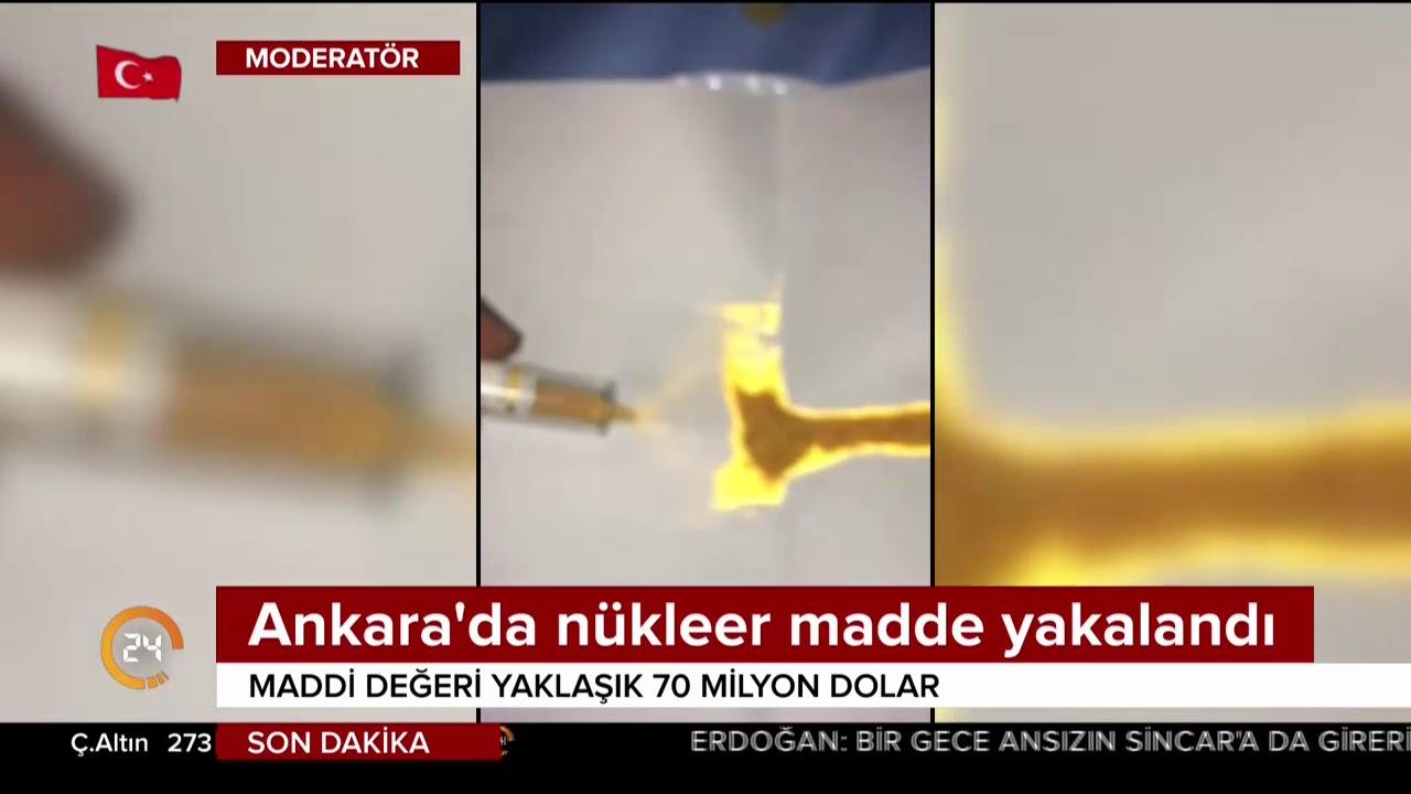 Ankara'da nükleer madde yakalandı