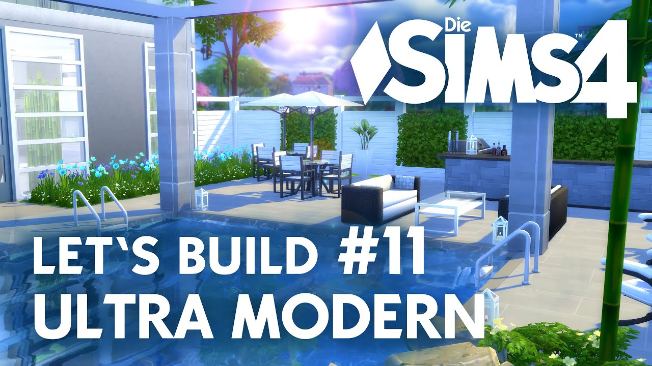 Sims 4 Schlafzimmer Set Die Sims 4 Let 39s Build Ultra Modern 11 Terrasse