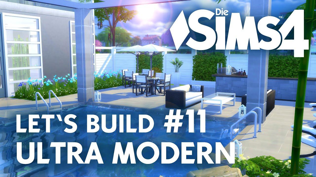 Die Sims 4 Let S Build Ultra Modern 11 Terrasse Schlafzimmer Youtube