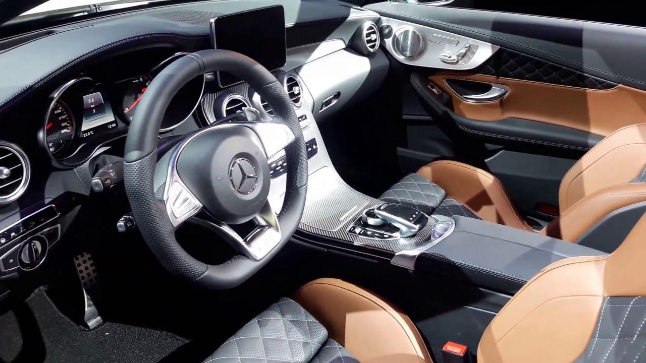 2017 Mercedes AMG C63 Cabriolet Interior Walkaround 2016 New York ...