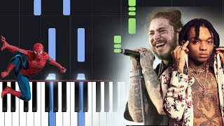 Post Malone, Swae Lee - Sunflower (Spider-Man Into the Spider-Verse) Piano Tutorial