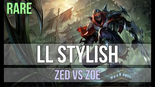 LL Stylish as Zed vs Zoe - s9 MID Ranked Gameplay