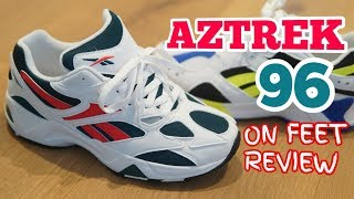 Cover images REEBOK AZTREK 96 Deep Teal - On Feet Review and Comparison with AZTREK 93