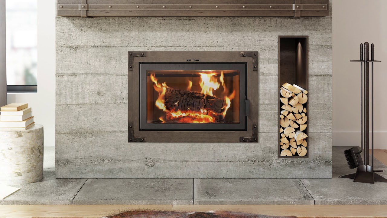 Old Wood Fireplace Part - 45: Ambiance Elegance 36 Wood Fireplace Clean Face W/Old World Front