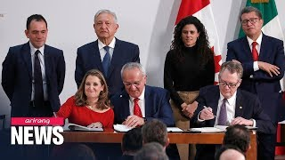 U.S., Canada and Mexico sign trade agreement to replace NAFTA Video