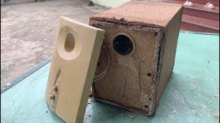 Restoration Subwoofer speaker antique  Restore MICROLAB speaker unit is broken