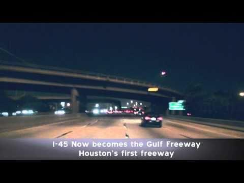 I-45 South at Night: Houston Texas