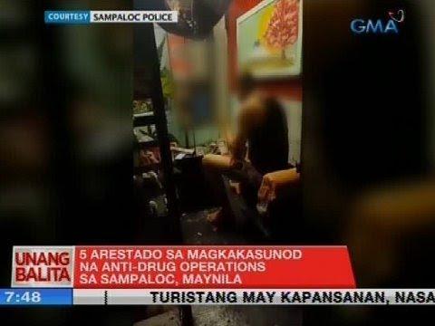 UB: 5 arestado sa magkakasunod na anti-drug operations sa Sampaloc, Maynila