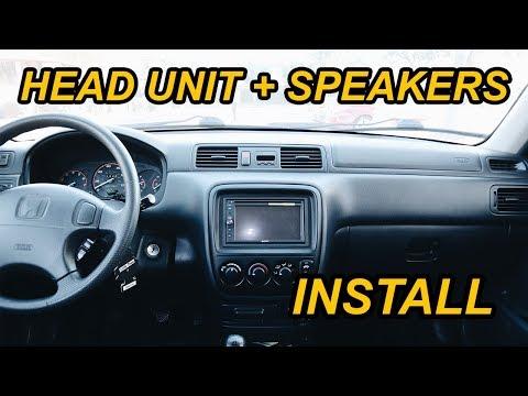 HONDA CR-V GETS NEW SPEAKERS + HEAD UNIT (INSTALL)