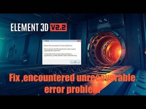 Fix *Element 3Ds unrecoverable error*